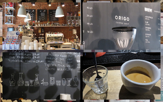 Coffee places in Bucharest, Romania including Origo and The Coffee Shop