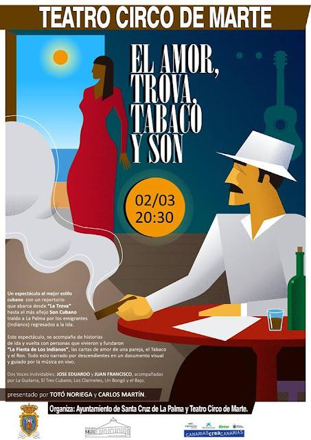 """""""El Amor, Trova, Tabaco y Son"""" en el Teatro Circo de Marte"""