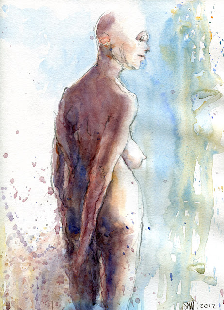 Watercolour sketch - 20121229 by David Meldrum