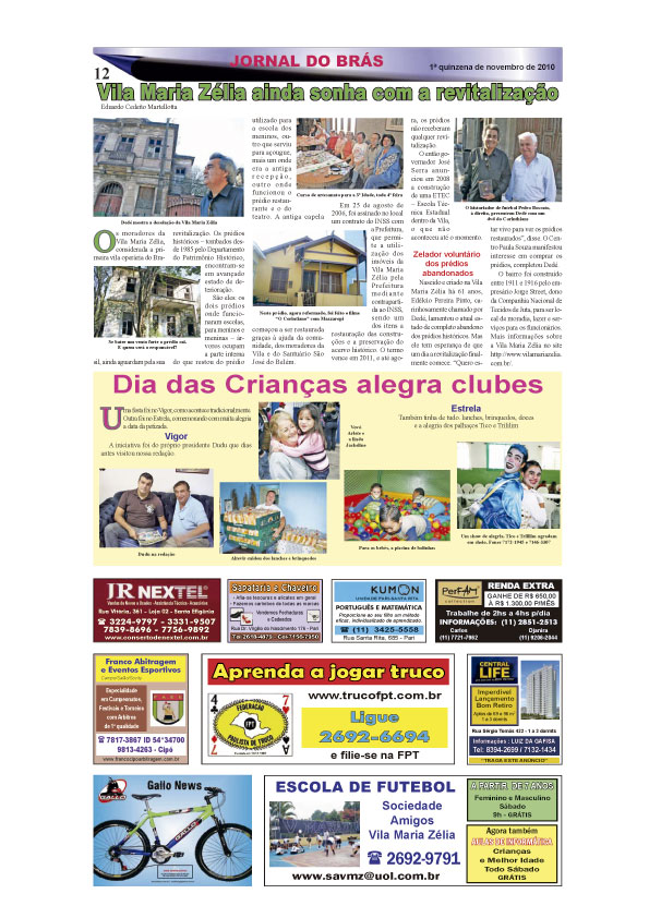 Jornal do Brás na Rádio Terra AM XV
