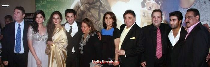 Randhir Kapoor, Deeksha Seth, Rekha, Armaan Jain, Reema Kapoor, Neetu Singh, Rishi Kapoor, Rajiv Kapoor, Aadar Jain