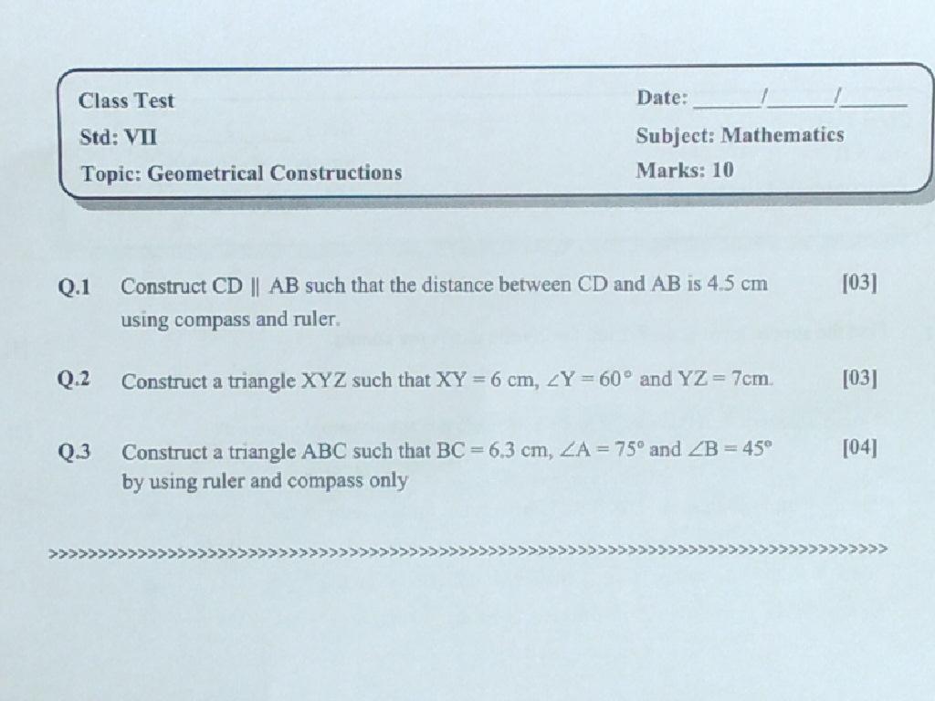 Grade -7 Podar International School,Gandhinagar: Maths: Copies ...