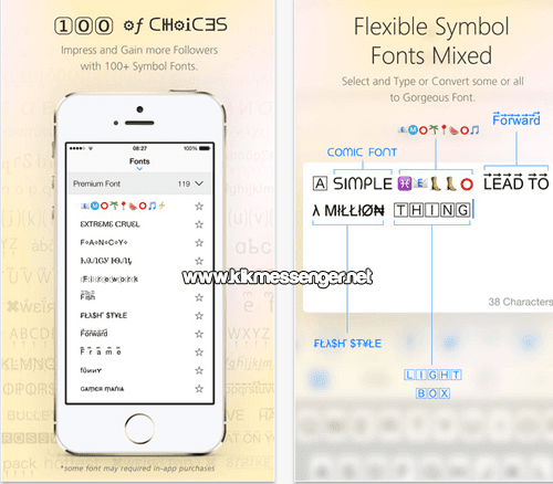 Tus mensajes y chats mas divertidos con Symbol Font Mix Free for Kik