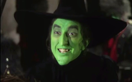 bruja witch wizard of oz mago de green verde