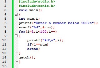 Explain with example nested for loop in c program.