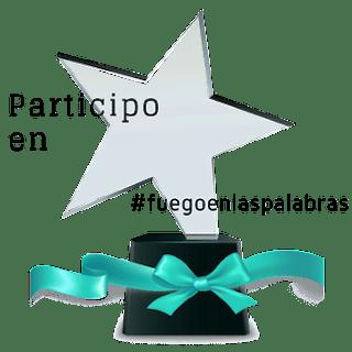 Trofeo de participante en Fuego en las palabras