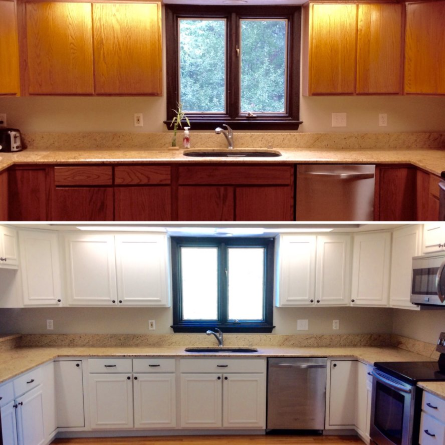 Updating Oak Kitchen Cabinets: Mimiberry Creations: Painting Oak Cabinets (everything You