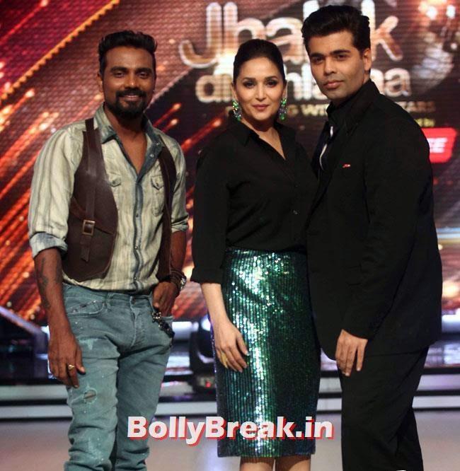 Remo D'Souza, Madhuri Dixit and Karan Johar, Jhalak Dikhhla Jaa Season 7 Grand Launch Pics
