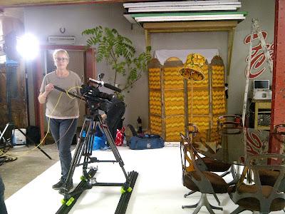 Sarah Myland filming