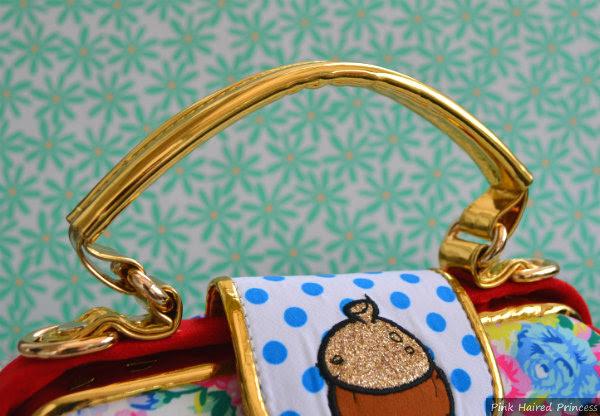 irregular choice disney chip n dale bag gold handle