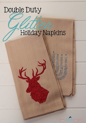 Double Duty Christmas Glitter Napkins