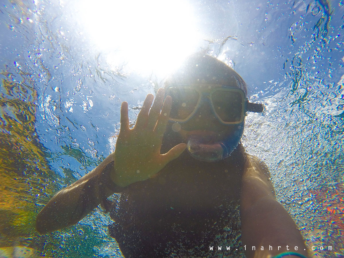 Underwater shot snorkelling at Boracay