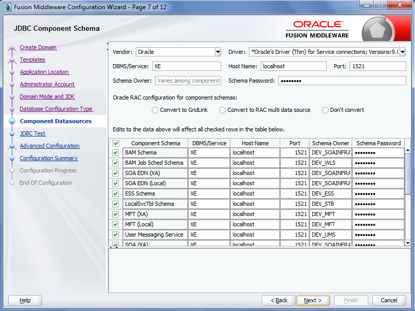Create SOA 12c compact domain