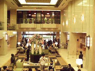 Grand lobby of the Hotel Metropolitan Tokyo Ikebukuro.