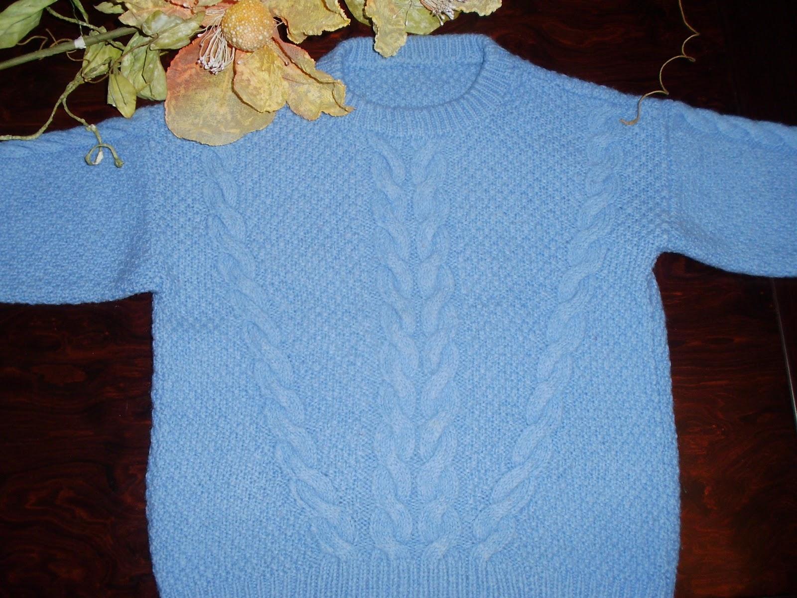 8027a45ad4f Victoria - Handmade Creations : Πλεκτό παιδικό πουλόβερ με πλεξίδες ...