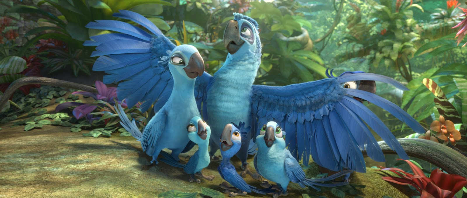 Rio 2 DVD still Blue and Jewel