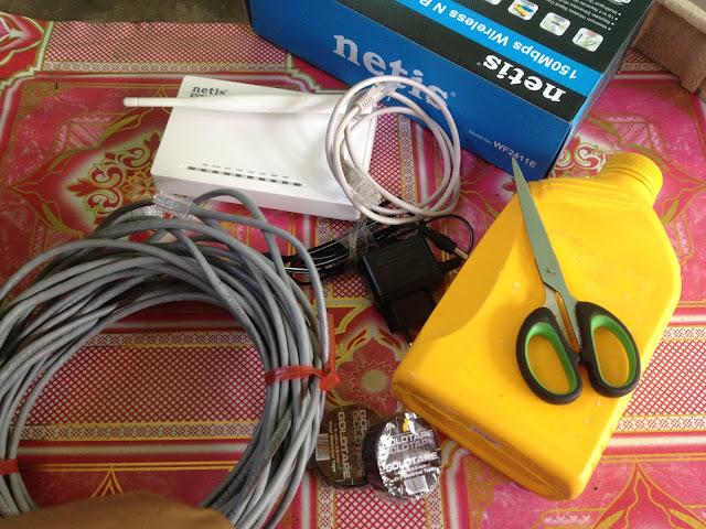 Tutorial Nembak Wifi Menggunakan Netis Wf2411E  | Rombak Jadi Wireless Outdoor