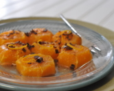 Citrus Slices with Orange Flower Water, Spices & Chocolate Shavings