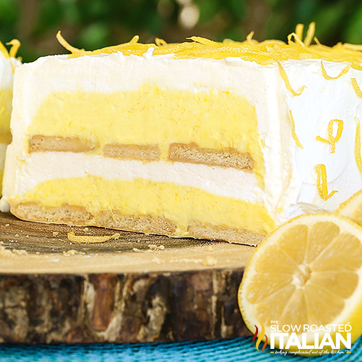 Lemon Cloud Ice Box Cake