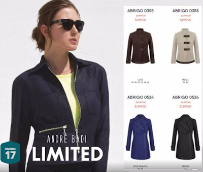 catalogo ropa andre badi limited enero 2017