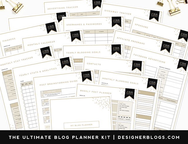 Ultimate Blog Planner Free Printable