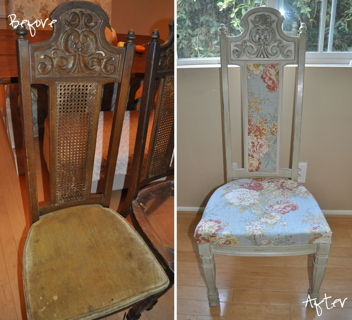 Reupholstering Dining Room Chairs: A Boy, A Girl, And 2 Mini