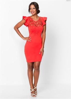 Vestidos rojos cortos de noche