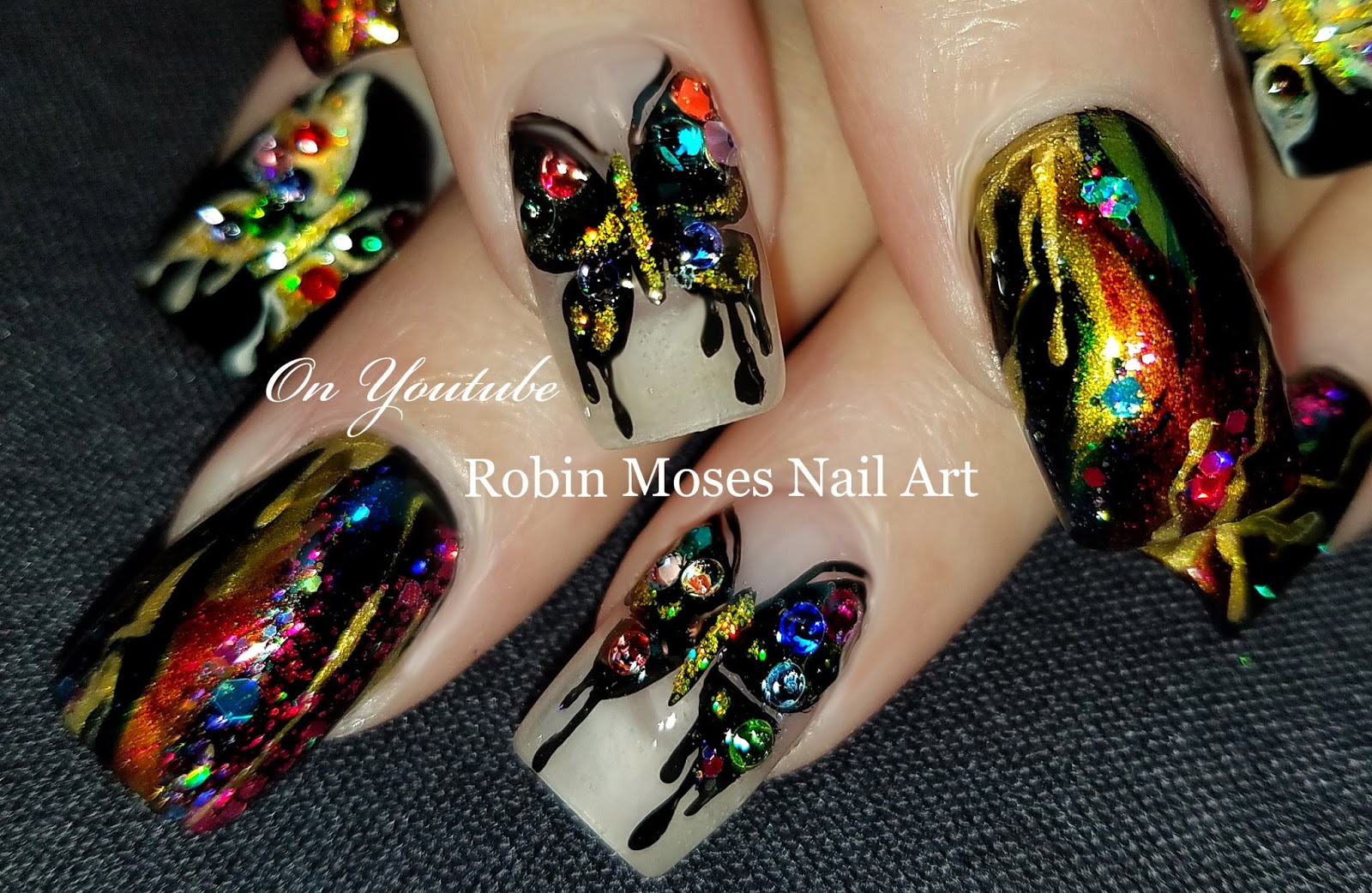 Nail Art By Robin Moses Birds In The Snow Nails Elegant Winter