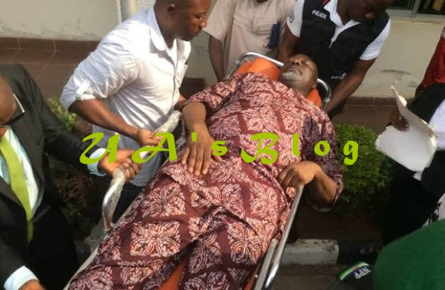 Breaking: Melaye Arrives Kogi In Ambulance Ahead Of Arraignment