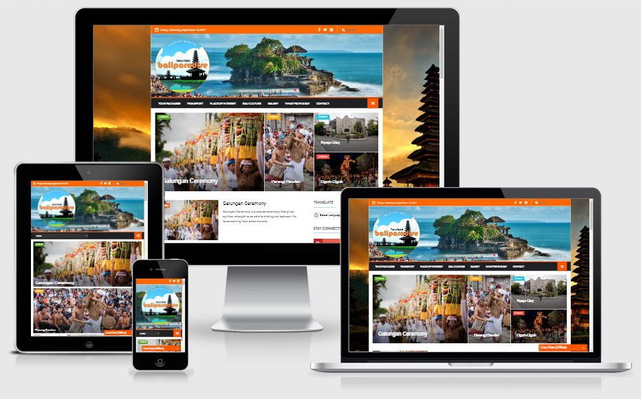 Website Bali Paradise Tour & Travel