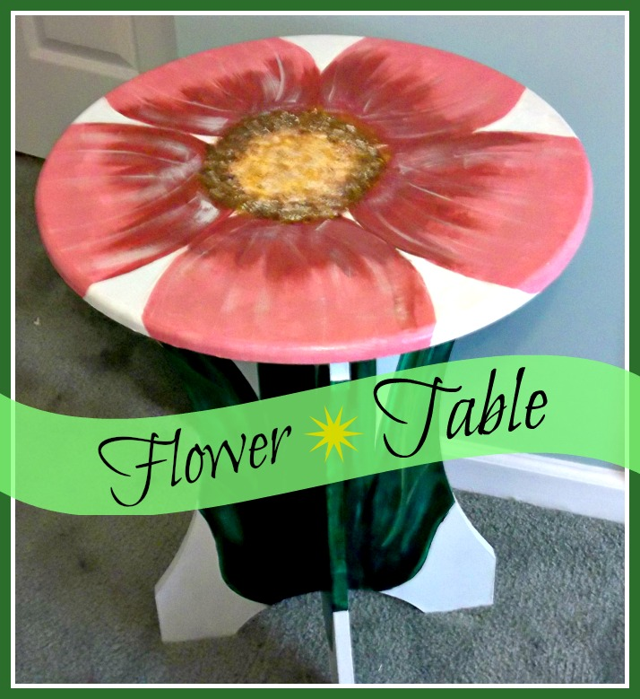 Vintage, Paint and more... custom hand painted pink flower table