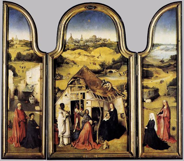 Hieronymus Bosch, trittico dell'adorazione dei Magi, 1510 c.