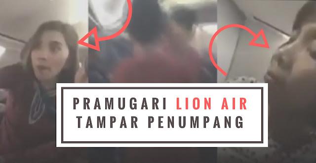 Video Pramugari Lion Air Tampar Penumpang
