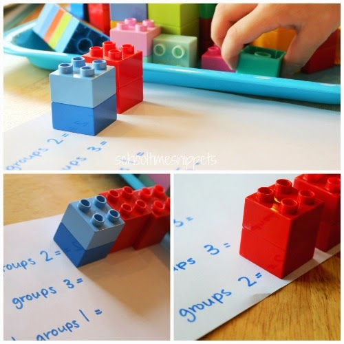 multiplication activity using LEGO