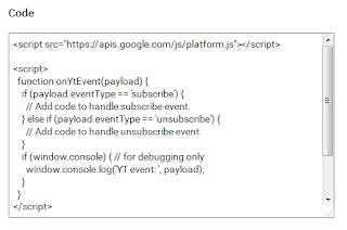 Copy Kode Tombol Subscribe