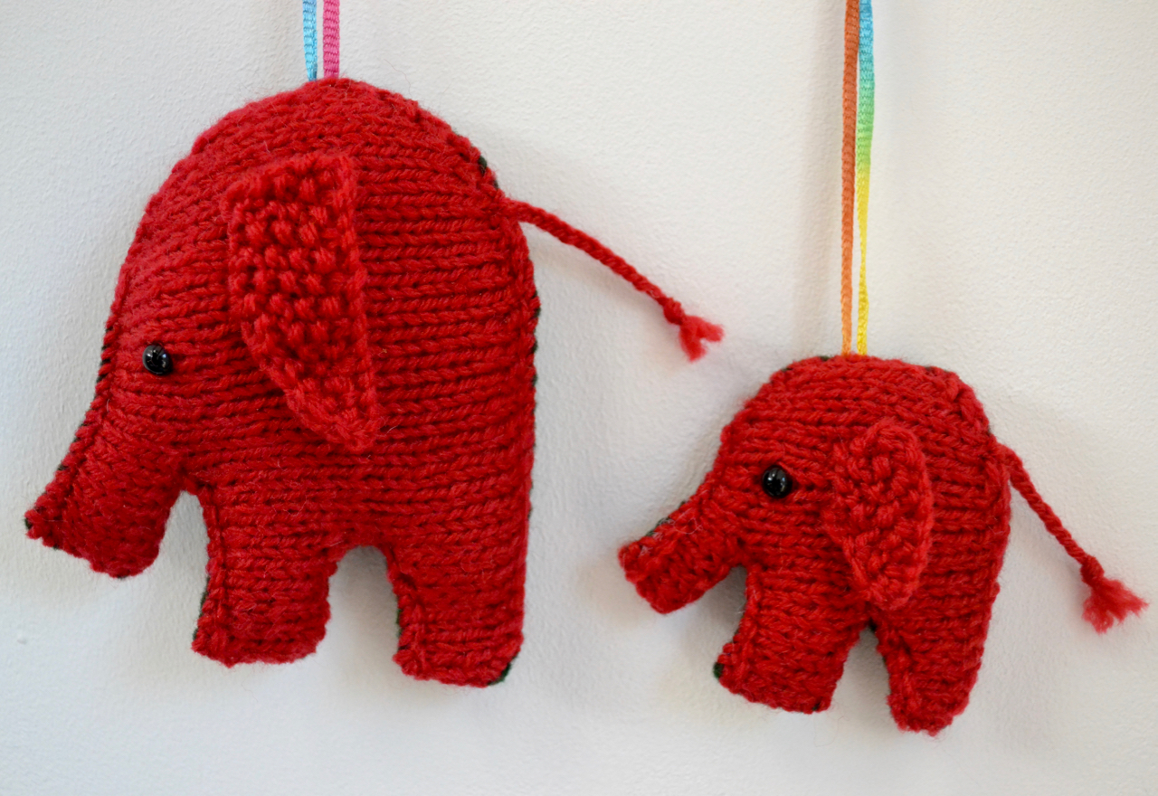 red traditional elephant - photo #19