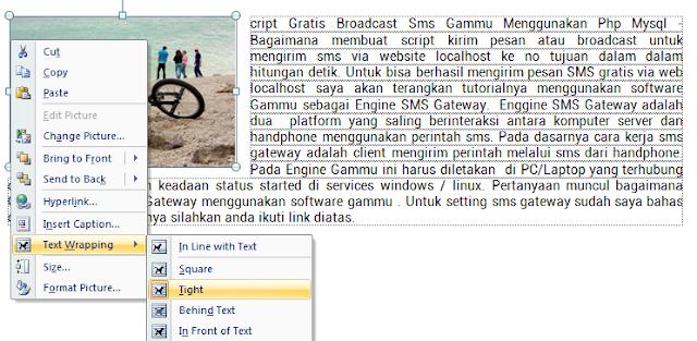 Gambar di Kiri Microsoft Word