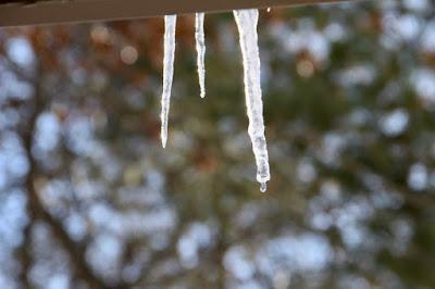 drip, drip, plip, plop signals melting ice and snow