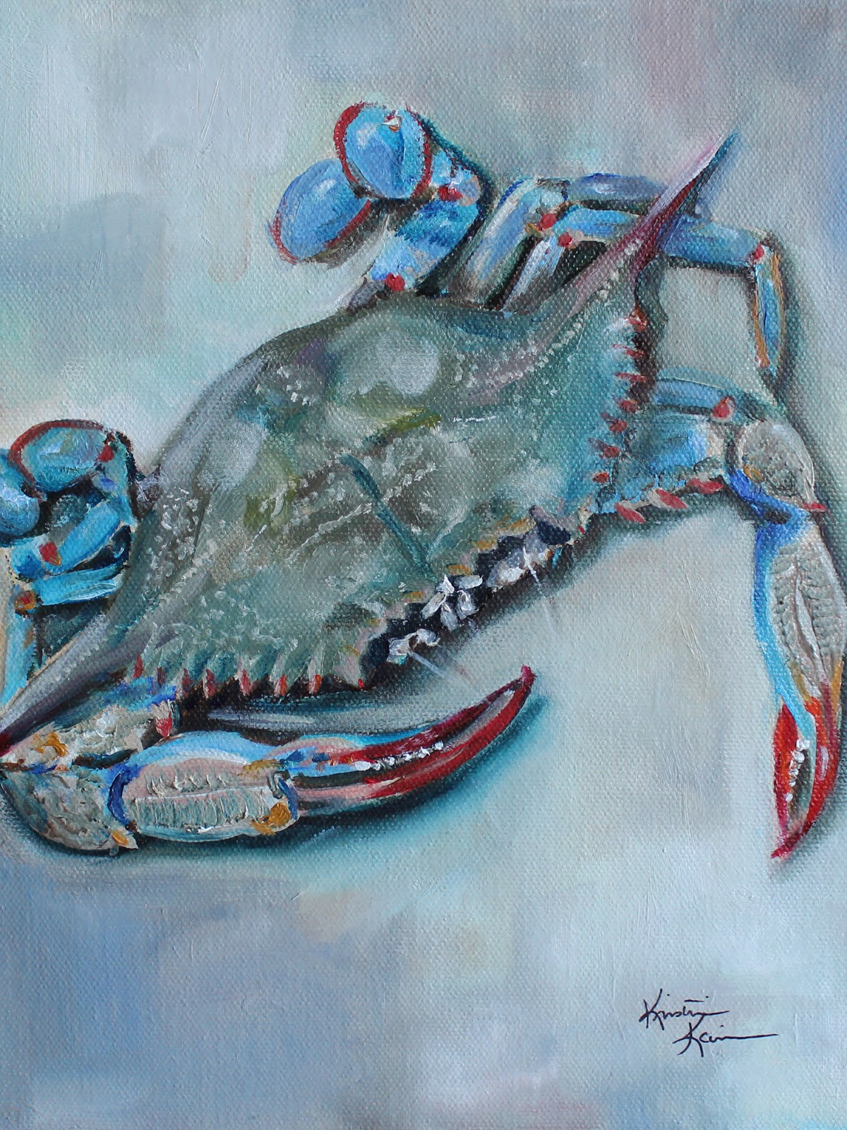 Artists of texas contemporary paintings and art blue crab by blue crab by kristine kainer amipublicfo Images