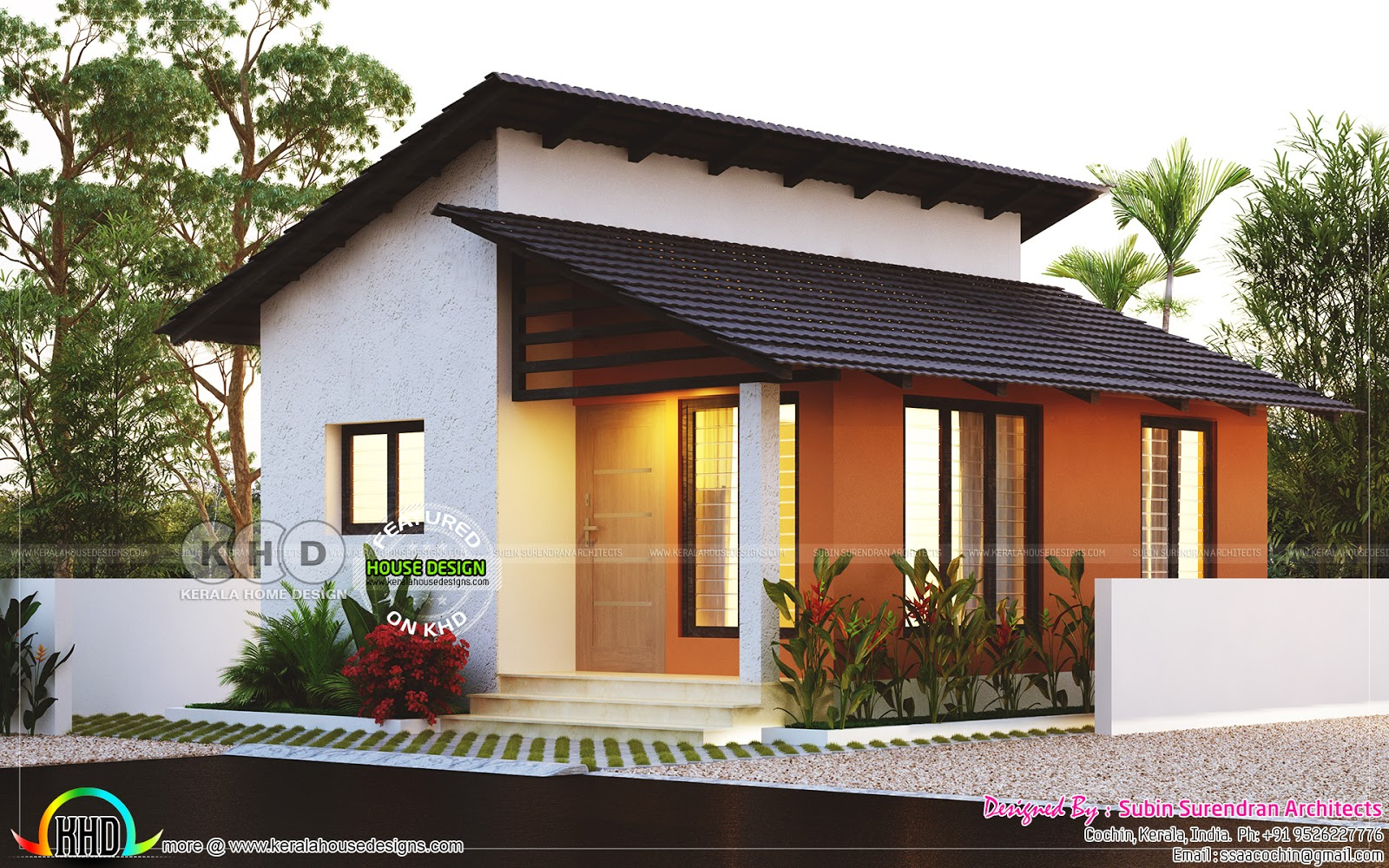 2 Bedroom Design Small House Small Low Cost 2 Bedroom Home Plan Kerala Home Design