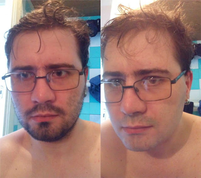 до и после бритья