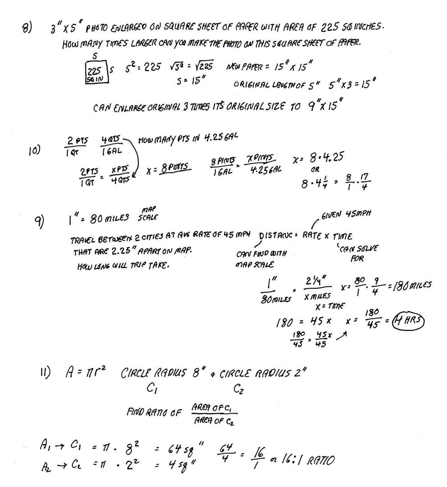 Cobb Adult Ed Math Solutions To May 26 Ratio And