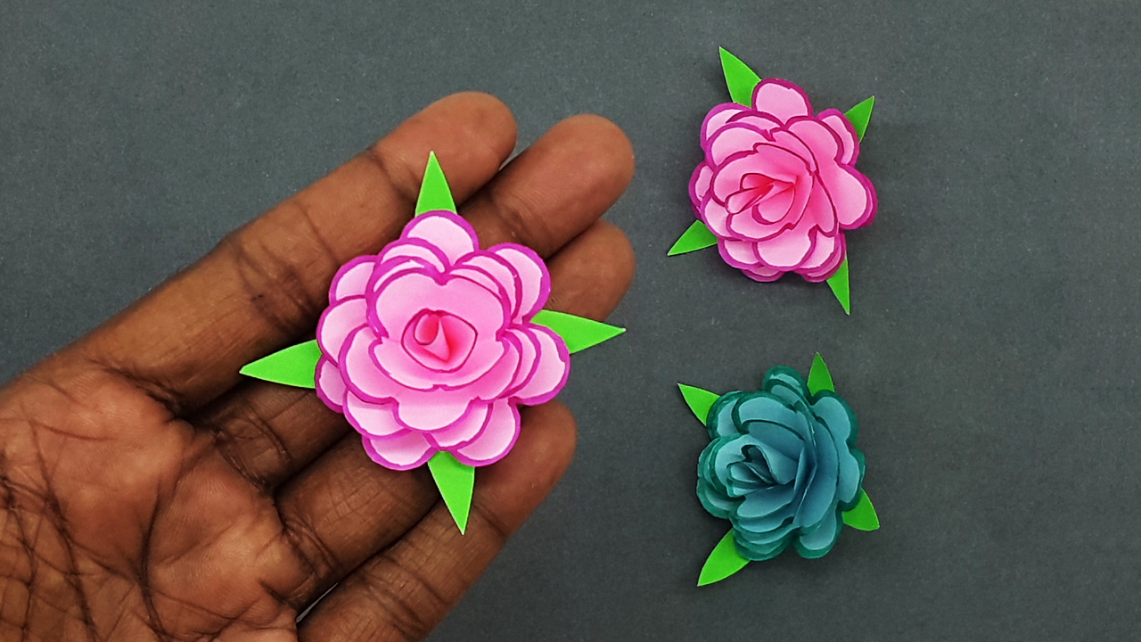 Colors Paper How To Make Small Paper Flowers Diy Handmade Craft