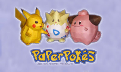 Pokemon en Papercrafts