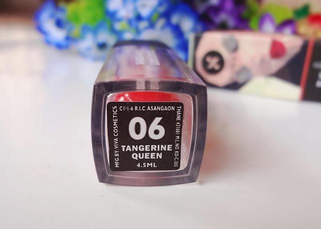 """Sugar smudge me not liquid lipstick in 06 Tangerine Queen"""