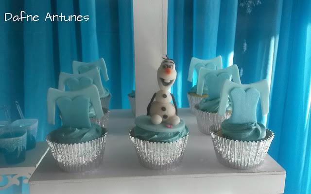 cupcake Elsa e Olaf - Frozen