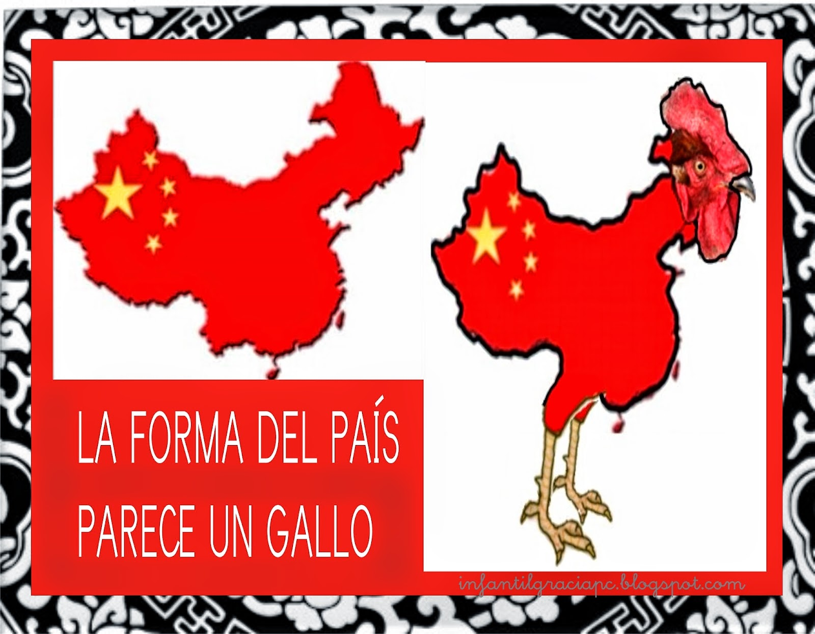INFANTIL de GRACIA: CHINA MAPA, LOCALIZACIÓN Y BANDERA CHINA