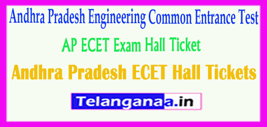 Andhra Pradesh ECET Hall Tickets 2018 download