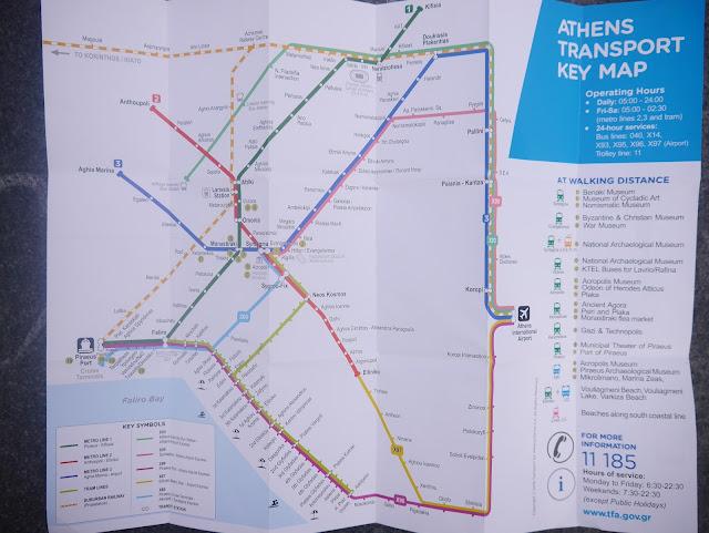 雅典公車地鐵圖