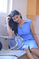 Telugu Actress Mounika UHD Stills in Blue Short Dress at Tik Tak Telugu Movie Audio Launch .COM 0181.JPG
